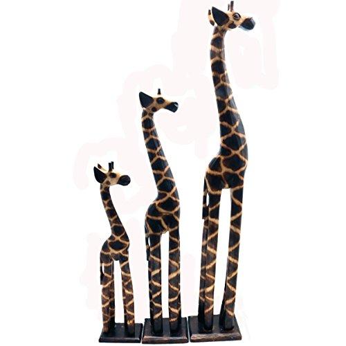 Holz Figur Dekoration Giraffe Bali Deko Garten Wohnung Statue Tier Tiermotiv - Gall&Zick Groß