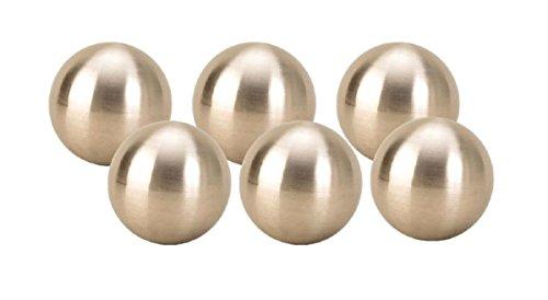 6 x Dekokugel in Silber matt ca Ø 6 cm Edelstahl Rosenkugel Garten Kugel Weihnachten