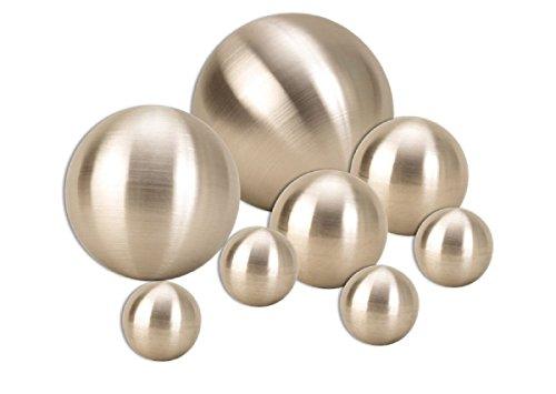 8 er Set Dekokugel in Silber matt ca Ø 15cm Ø 10cm Ø 6cm und Ø cm Edelstahl Kugel Schwimmkugel Rosenkugel Weihnachten