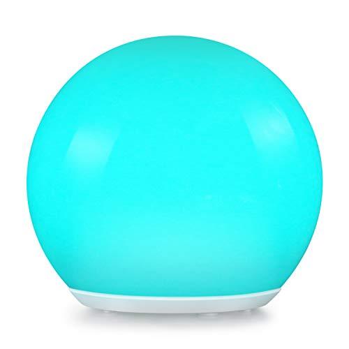 Albrillo RGB Solarlampe Garten - LED Solar Kugel mit Fernbedienung Durchmesser 20cm mit 12 Farben USB Aufladbar Kugellampe Wasserdicht IP68 für Outdoor