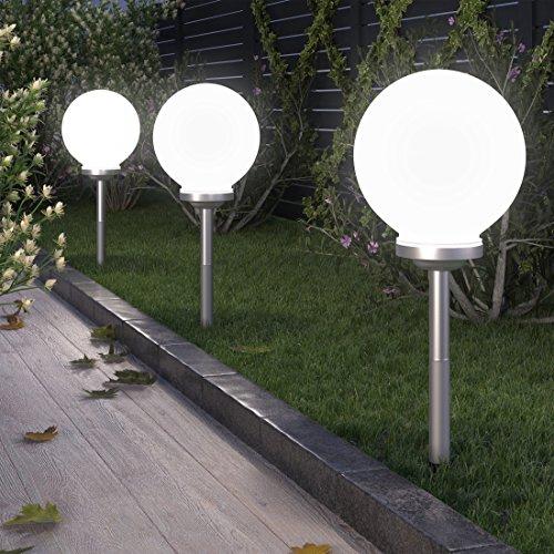 LED Garten Solarleuchte Solarlampe Gartenleuchte Solarkugel  wetterfest  mit Akku  kabellos  für den Außenbereich Garten und Balkon Ø 30cm