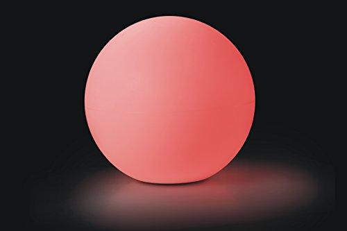 LED-Lampe Kugel-Leuchte XXL 60 cm für Innen und Außen Tischdekoration Garten Terrasse Vorgarten Pool u Teich Beleuchtung Farbwechsel Mit Fernbedienung u Akku kabellos wasserdicht