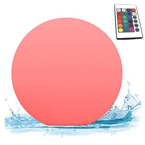 PK Green LED Schwimmkugel Pool Erstklassig  Kugel Wasserdicht IP67 für Garten Außen Outdoor Teich  Tischlampe Rund mit Farbwechsel Fernbedienung  Außenleuchte Gartenlampe Poollampe Schwimmend